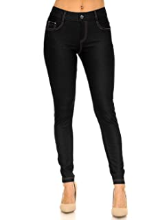 e95fc6ba0bdf3 ICONOFLASH Women s Stretch Jeggings - Slimming Cotton Pull On Jean Like  Leggings with Plus Size Options
