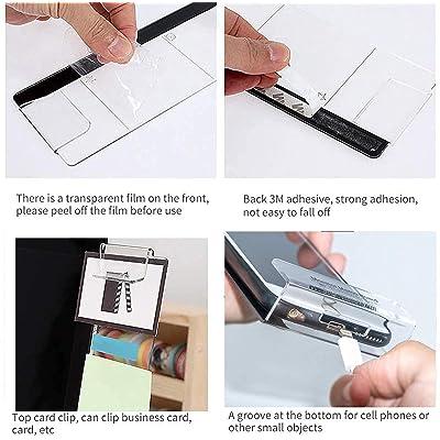 Set of 3 Magnetic Photos Notes Holder Memo Hub Magnet Board