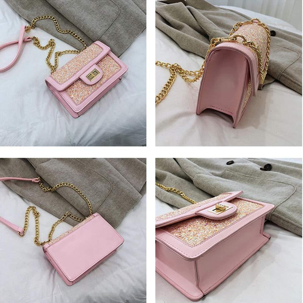 Handtaschen für Frauen Umhängetasche Trend Casual Fashion Handtasche Umhängetasche Kleine Handtasche YJXUSHYQ (Farbe : Blue) Pink