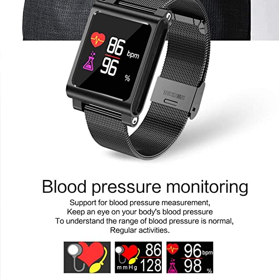 Liqiqi K8 Smart Watch Fitness Tracker BT Heart Rate Sleep ...