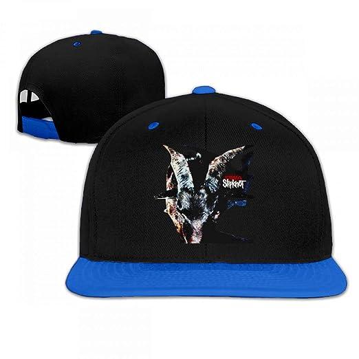 Slipknot Iowa Woman s Man s Unique Flat Bill Snapback Hat Hip Hop Baseball  Cap Youth Headgear Blue 30fddf04272