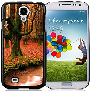 Beautiful Custom Designed Cover Case For Samsung Galaxy S4 I9500 i337 M919 i545 r970 l720 With Autumn Forest Trees Phone Case Cover