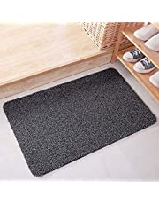 ESUPPORT Large Welcome Entrance Door Mats Household Absorbs Mud Non Slip Entryway Floor Rug, Gray