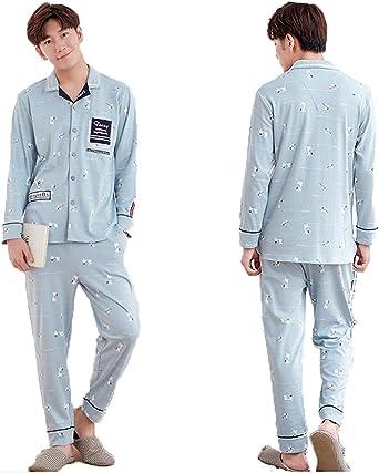 Pijamas Azules Camisa De Dormir De Camisón para Ropa Parejas ...
