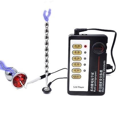 Electroestimulación sexual, anal uretral, enchufe de pene eléctrico ...