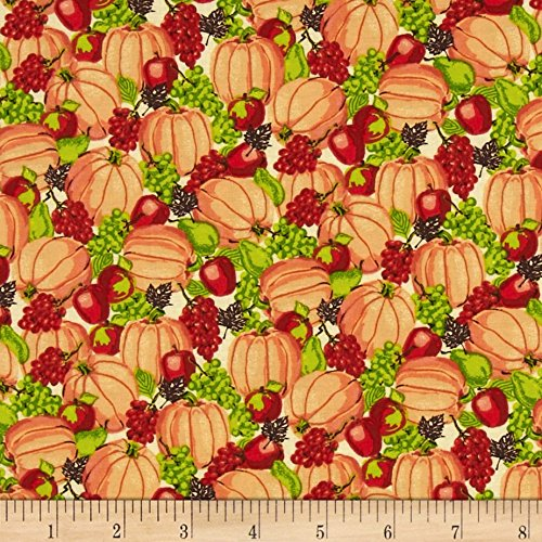 harvest-bounty-packed-pumpkins-fruit-orange-fabric-by-the-yard