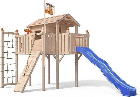 Oskar Terrizio XL - Casa de árbol con tobogán, rampa de ...