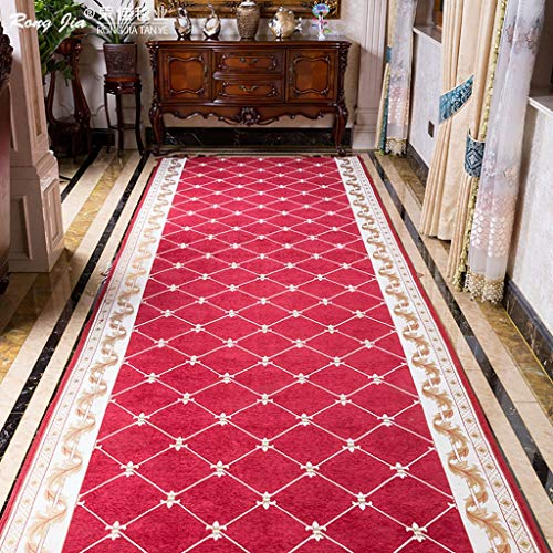 GWXDT Hallway Runner Rugs Corridor Living Room Entrance Bedroom Bathroom Bedside Washable Soft-Touch Non-Woven Bottom Anti-Skid No Smell, Thickness 6mm (Color : A, Size : 15M)