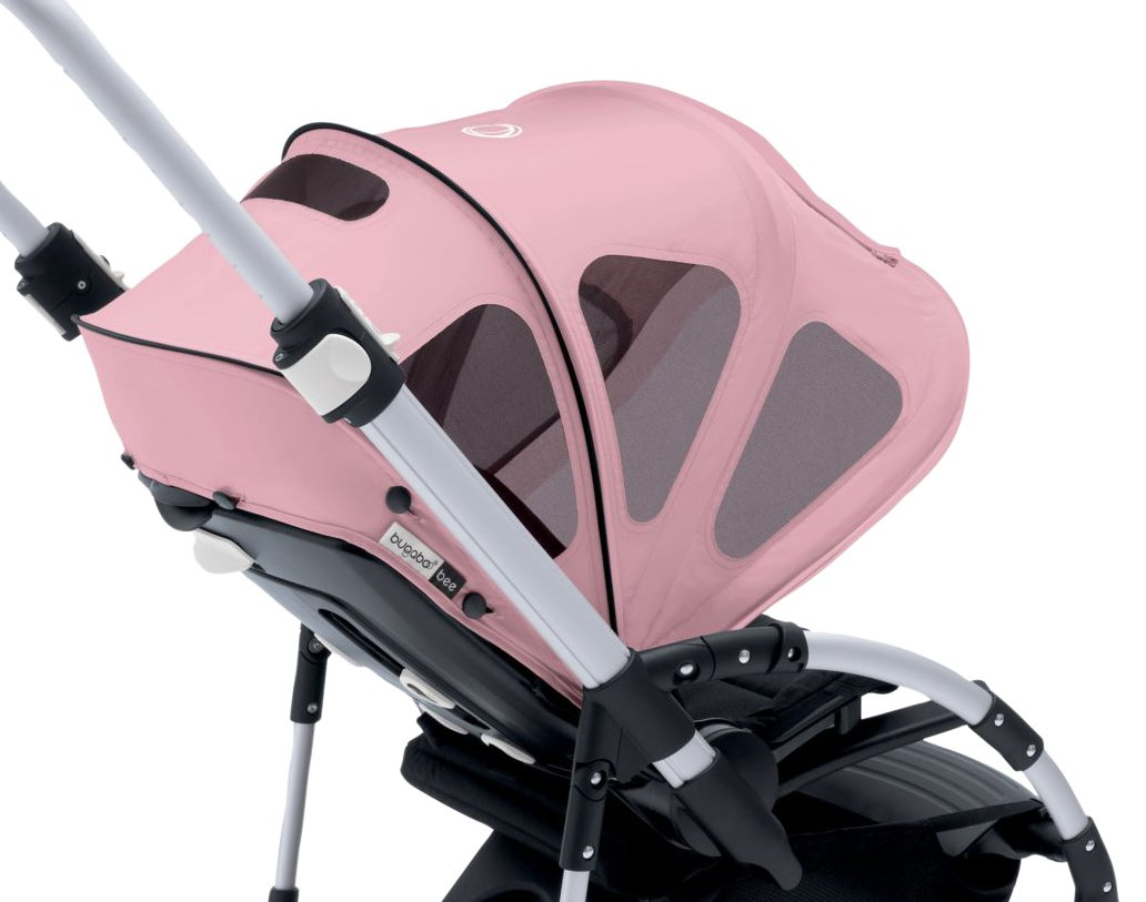 Bugaboo Bee Breezy Sun Canopy, Soft Pink - Extendable Sun Canopy with UPF Sun Protection and Mesh Ventilation Panels by Bugaboo
