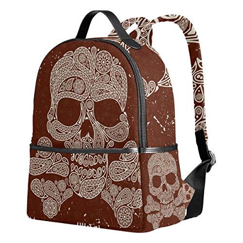 [Sugar Skull Dia De Los Muertos Unisex Rucksack Canvas Satchel Casual Daypack ,School College Student] (Dia De Los Muertos Mariachi Costume)
