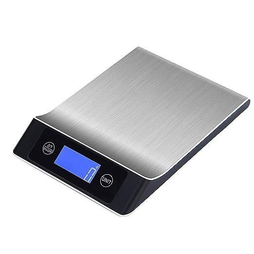 Crylee - Báscula digital de cocina (acero inoxidable, con ...