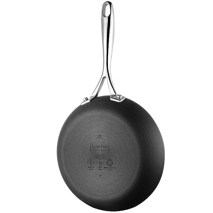Batería de Cocina de Aluminio 12 Piezas Juego de Ollas y Sartenes Antiadherentes de Cerámica Negro Juego de Cacerolas con Accesorio para Cocinar al Vapor y ...