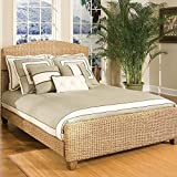 Home Styles Queen Cabana Banana Natural Woven Panel Bed in Honey