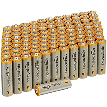 AmazonBasics AA Performance Alkaline Batteries (100-Pack)