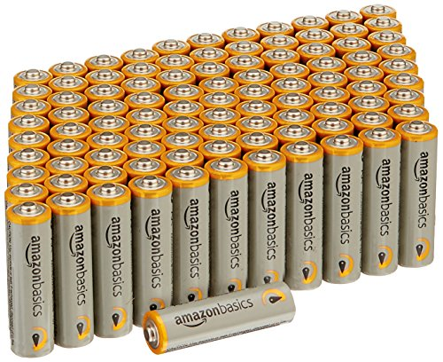 AmazonBasics AA 1.5 Volt Performance Alkaline Batteries - Pack of 100 (Battery Care Health)