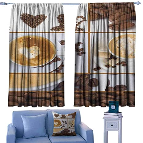 Amazon.com: ParadiseDecor Kitchen Print Decor Curtains ...