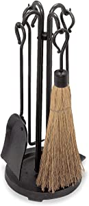 "Pilgrim Home and Hearth Pilgrim 18000 Compact Wood Stove Tool Set, 23"" Tall, Vintage Iron"