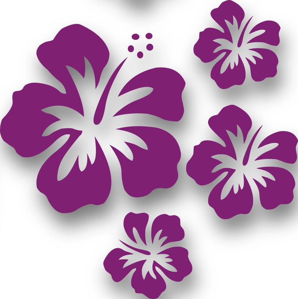 Eitelkeit Wandtattoo Lila Galerie Von Mixed Set Blüten, 4 Stück Violett Autoaufkleber