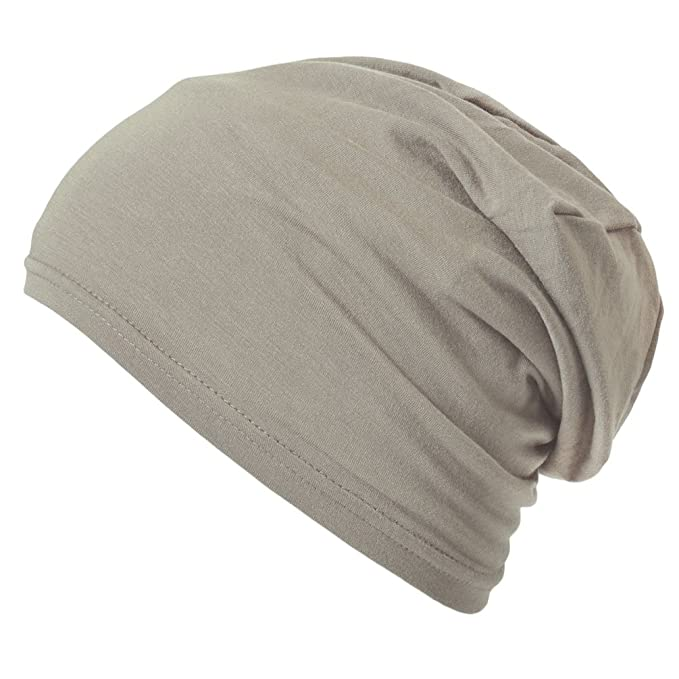 fd6c4733 CasualBox Mens Thermal Stretch Sports Made in Japan Tight Beanie Hat  Beige,Medium