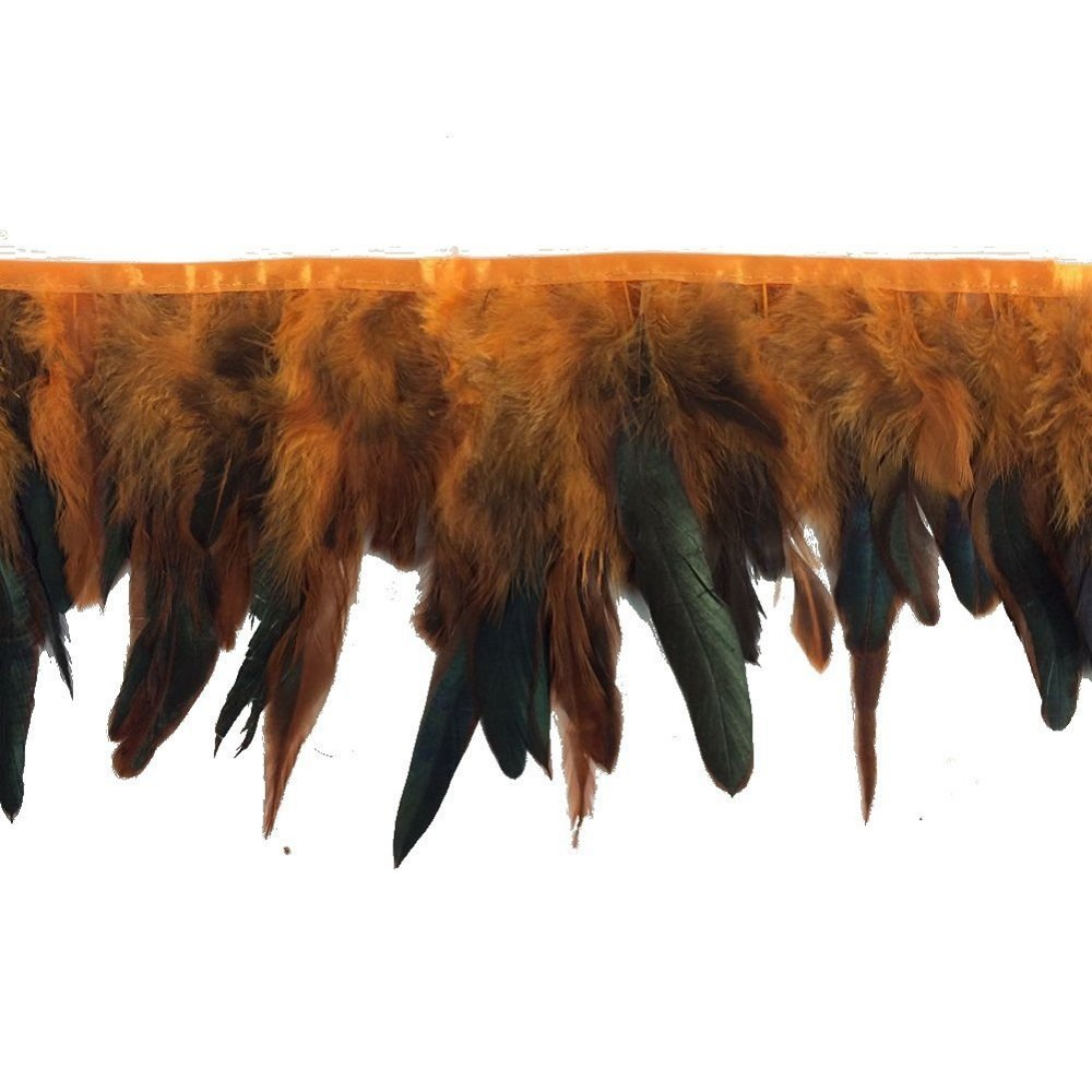 Fushia CENFRY Rooster Hackle Feather Fringe Trim 5-7 in Width Pack of 2yards