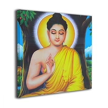 Bold Et Laiton Bouddha Peinture Sur Toile Murale Art Carlo Peintures