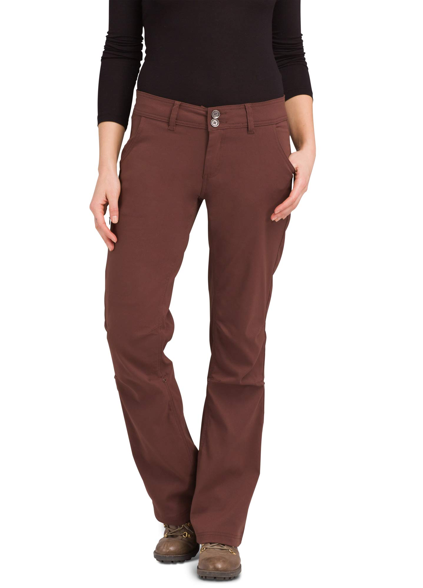 prAna - Women's Halle Roll-up, Water-Repellent Stretch Pants for Hiking and Everyday Wear, Tall Inseam, Cocoa, 6 by prAna