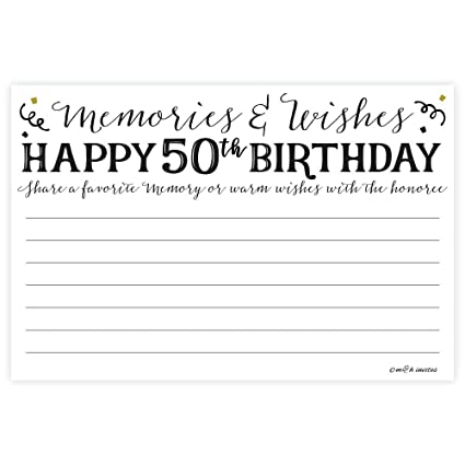 Amazon 50th Birthday Memories And Wishes Cards 50 Count