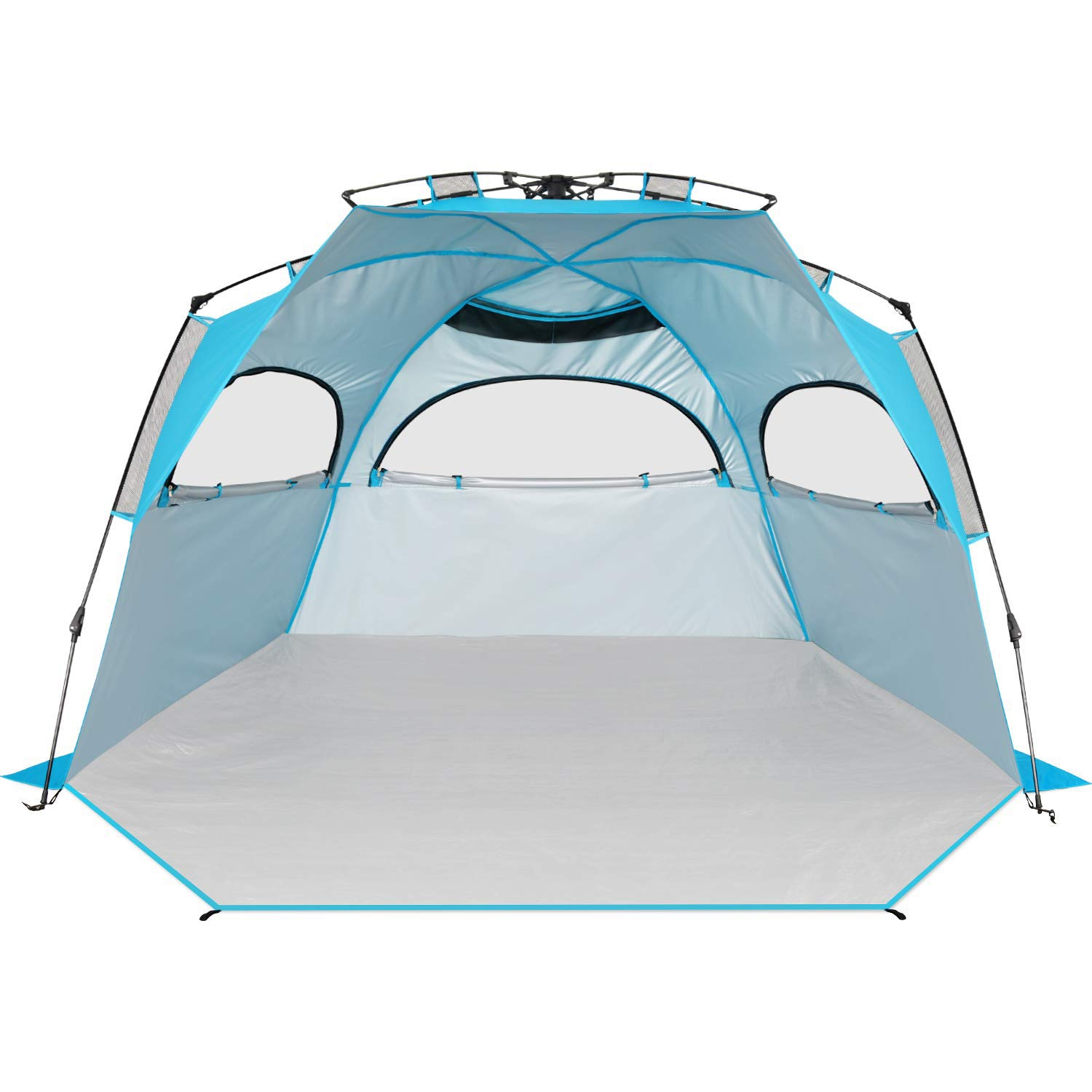 BATTOP 4 Person Instant Beach Tent Sun Shelter for Family - Easy Set Up Sun Shade Outdoor by BATTOP