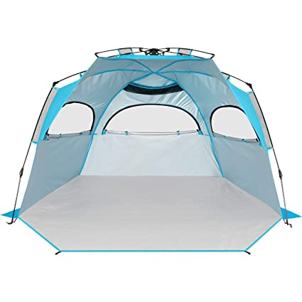 buy popular 04934 e80dc BATTOP 4 Person Instant Beach Tent Sun Shelter for Family - Easy Set Up Sun  Shade Outdoor