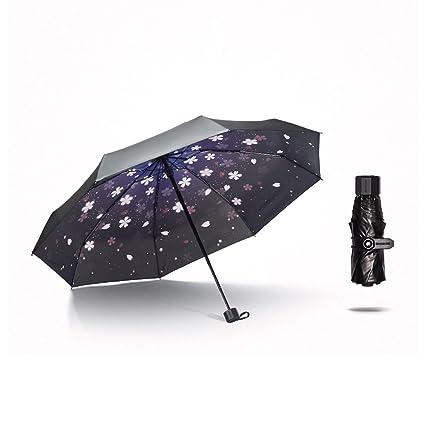 Paraguas Protección Solar Sol Ultravioleta Ligera Que dobla la protección Solar Mini Plegable del Mini Cinco