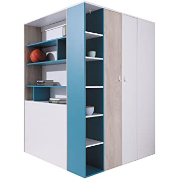 Furniture24eu Eckkleiderschrank Eckschrank Begehbarer Schrank
