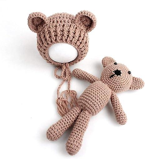 Heaviesk Sombrero del bebé Bebé Bebé Tejer Crochet Gorros Sombrero ...