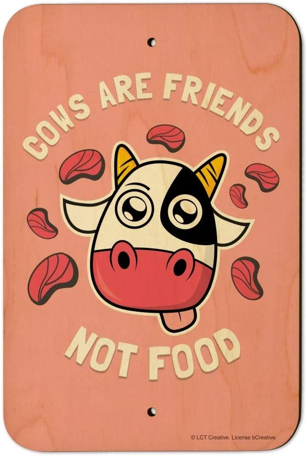 GRAPHICS & MORE Cows are Friends Not Food Vegan Vegetarian Funny Humor Home Business Office Sign