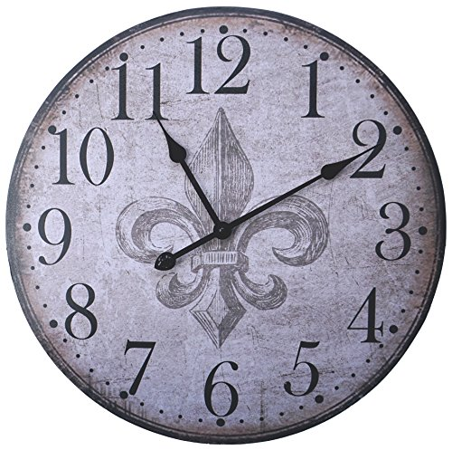 Lulu Decor, French Country Style Rustic Wood Wall Clock