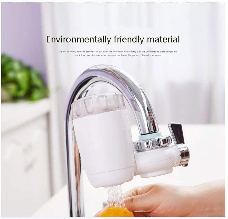 Zyyqt Filter Tap,Water Filter Household Water Purifier Washable Ceramic Filter Mini Water Purification