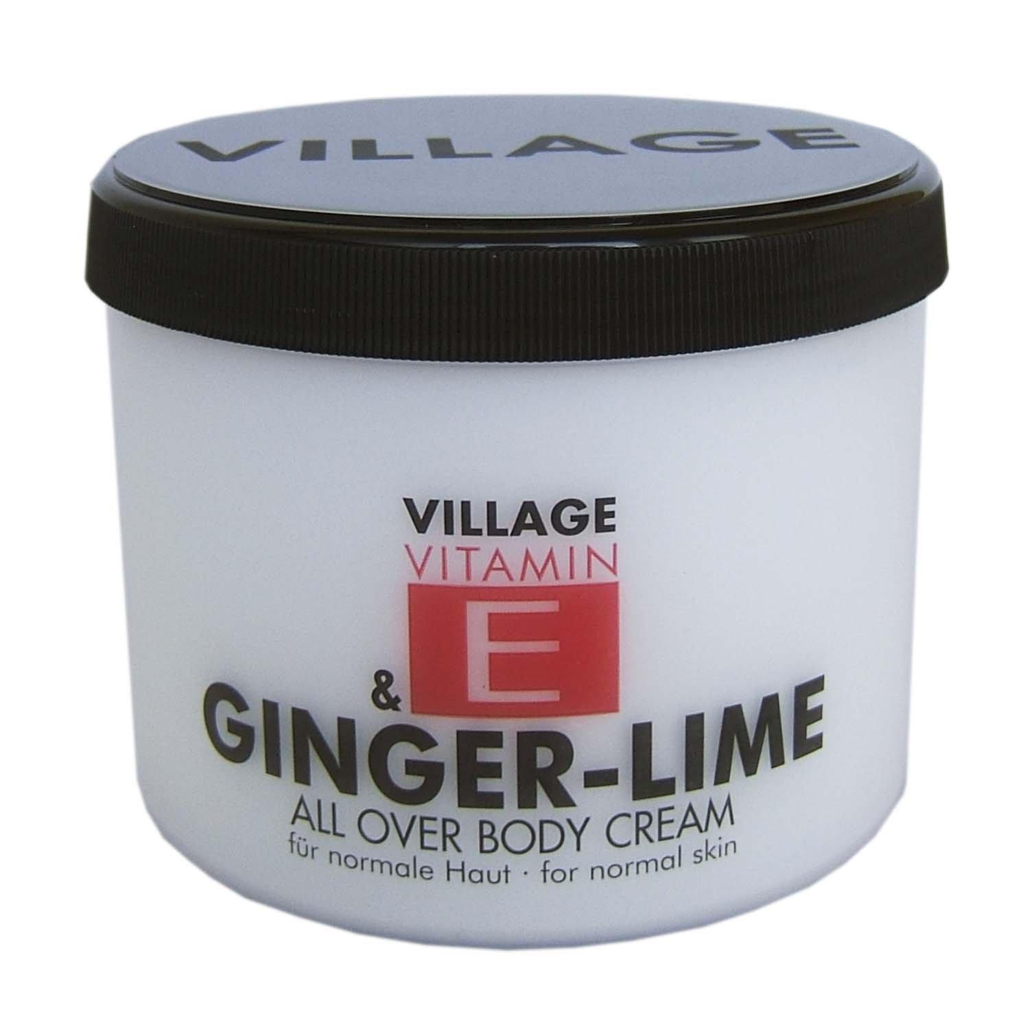 Village Cosmetics Vitamin E Bodycream Ginger-Lime, 1er Pack (1 x 500 ml) 950647
