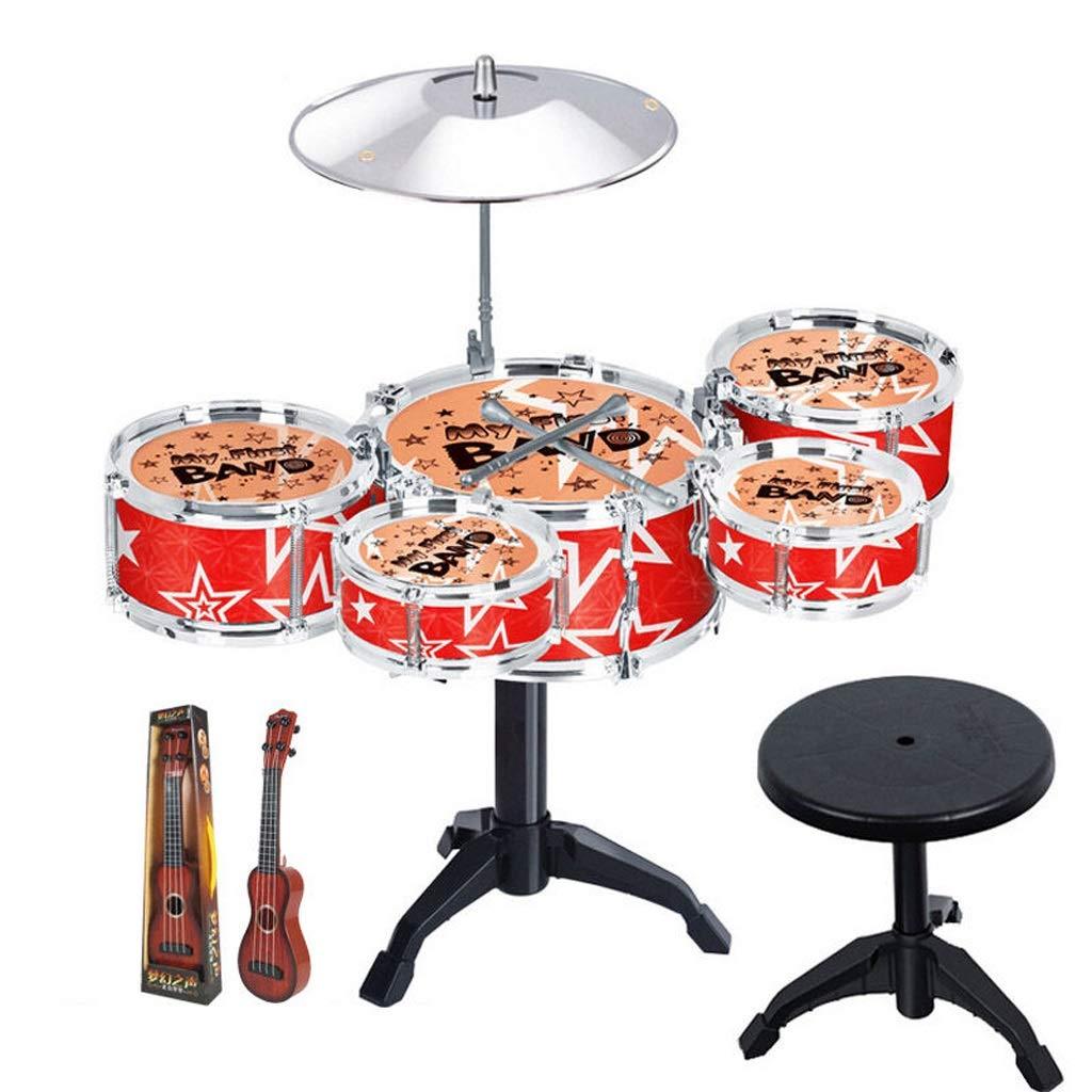 24e070edab791 LIUFS-Tambor Batería Infantil Instrumentos Musicales Batería Percusión  Juguetes Para Bebés Modelos Rojos - Enviar Guitarra (color   Red)   Amazon.es  ...