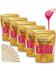 17.5 Oz Hair Wax Beans by Charmonic, Hard Body Wax Beans, Hair Removal Depilatory Wax European Beads for Women Men 500g/17.5Oz (rose)