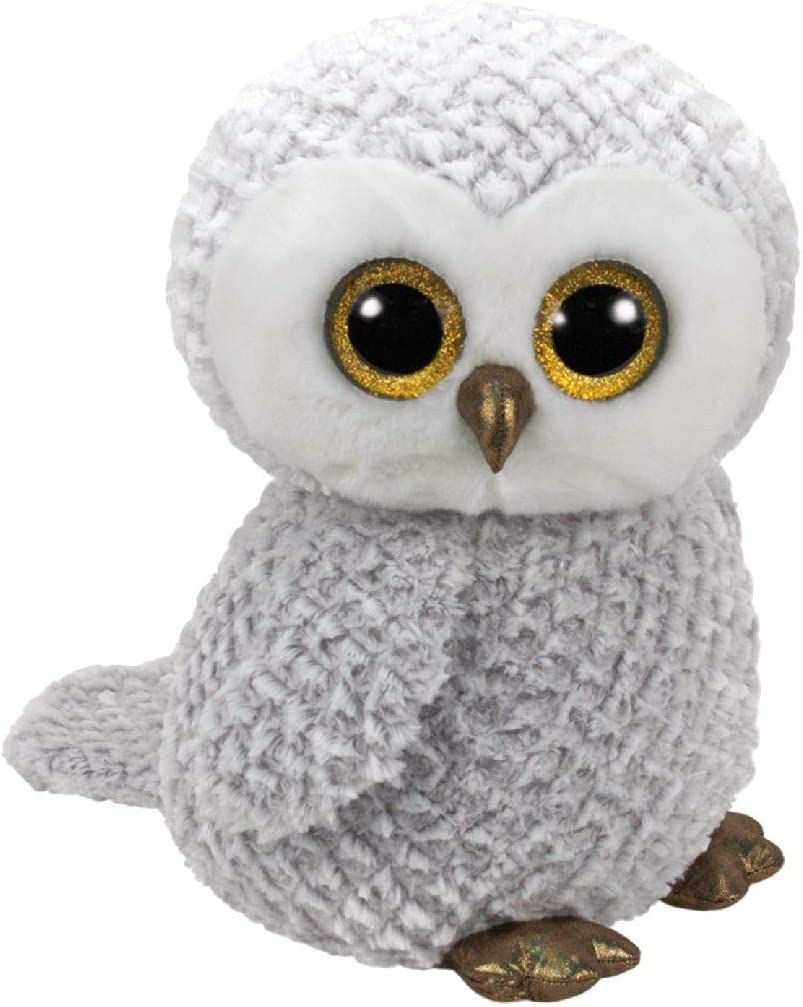 TY Owlette 36840 Eule mit Glitzeraugen Grau