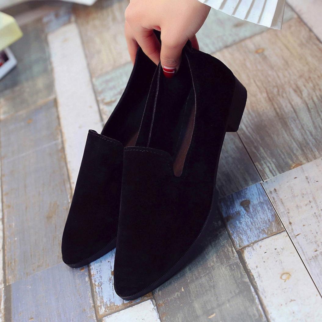 Mocasines mujer , ❤️Amlaiworld Sandalias planas de mujer Mocasines de moda sólida Calzado Zapatos al aire libre zapatillas Mujer Bailarinas (Negro, ...