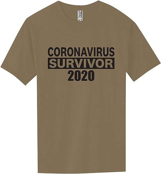 Coronavirus Survivor 2020 Virus Corona Men/'s Long Sleeve Shirt