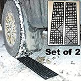 Anti Skid Plate Duty Track Boards Foldable Tire Tracks Car Safety Snow Mud Sand Rescue Escape 2pcs Traction Mats Self-help Off-board Belly With Mat Non-slip Universal Anti-skid Pad Auto Wheel Aid Tyre