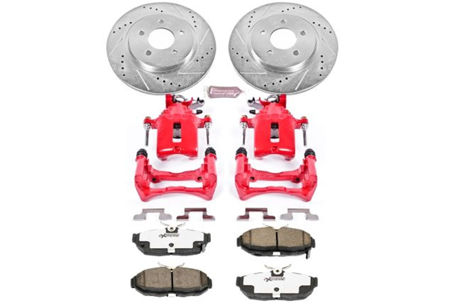 Power Stop KC4749-26 Z26 Street Warrior Brake Kit with Powder Coated Caliper
