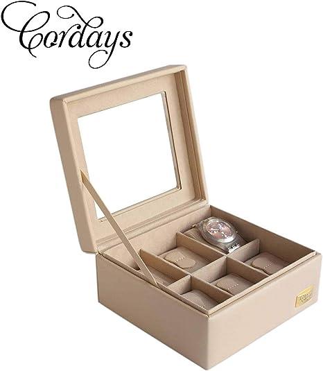 Cordays Estuche Relojero para 6 Relojes con Vitrina de Cristal ...