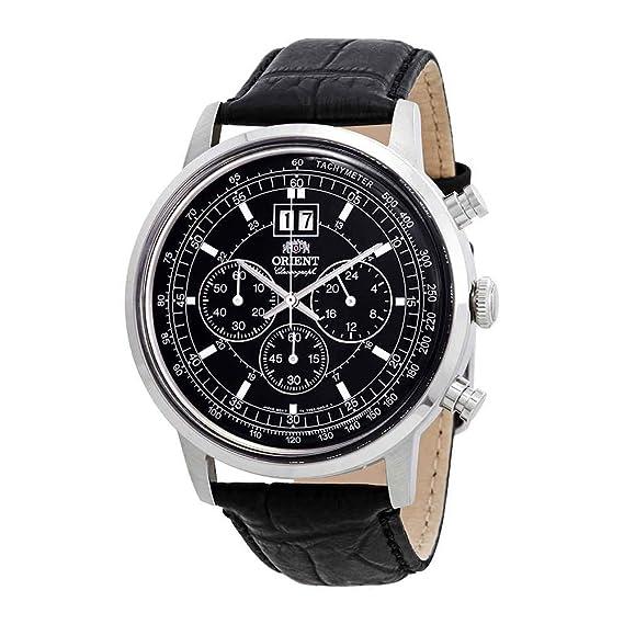 Orient de pulsera reloj de pulsera piel cuarzo Analog ftv02003b0: Amazon.es: Relojes