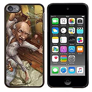 LECELL--Funda protectora / Cubierta / Piel For Apple iPod Touch 6 6th Touch6 -- Abuelo Art Dibujo Saludable --