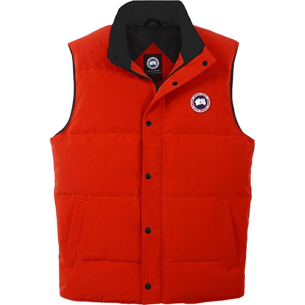 (カナダグース)Canada Goose Garson Down Vest メンズ ベストRed [並行輸入品] B07842SH64  Red 日本サイズ LL (US L)