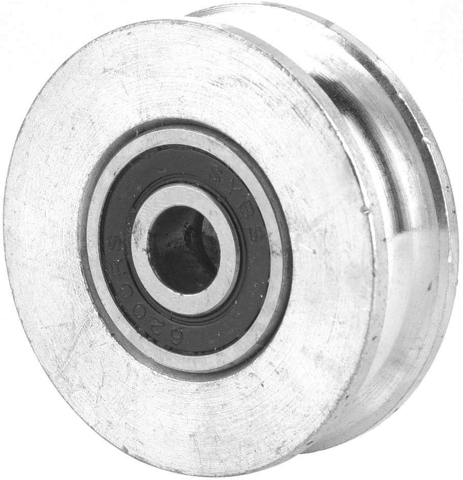 #1 Naroote Loading Single Pulley Block Swivel Pulley Roller Lifting Wheel for Wire Rope 0.3 Tons