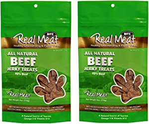 The Real Meat Company Large Bits Beef Jerky Dog Treats (2 Pack)