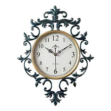 Wanduhr Europäische Retro Uhr Mode Kunstuhr Digitaluhr Stille Nicht Tickende  Uhr Wanduhr Für Wohnzimmer Schlafzimmer